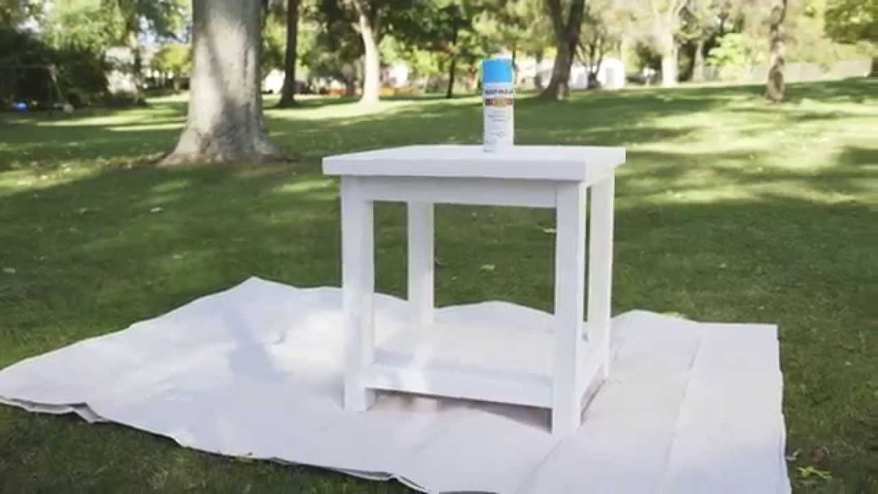 table spray painting