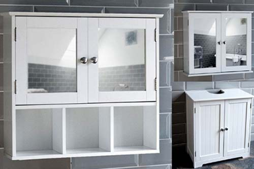 bathroom furniture mirrored wall cabinet