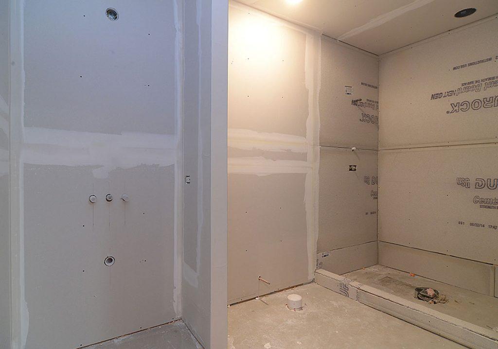 bathroom drywall