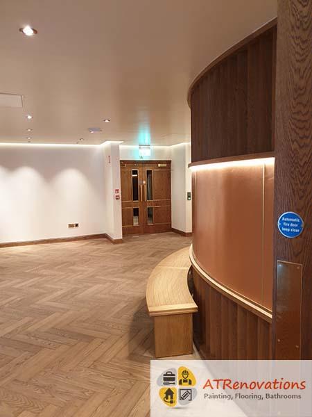 laminate floors in sauna